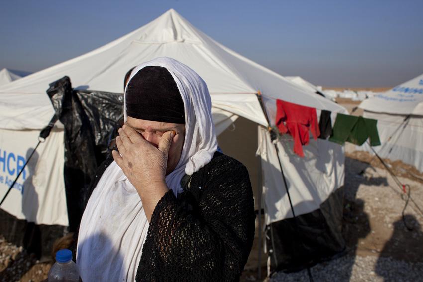 Desplazados de Mosul durante su llegada al campo de refugiados de Hassansham. Fotos Oxfam.