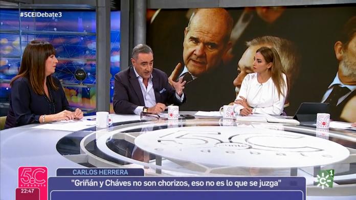 Carlos Herrera participó como invitado en el nuevo programa de Mariló Montero en Canal Sur el pasado noviembre.