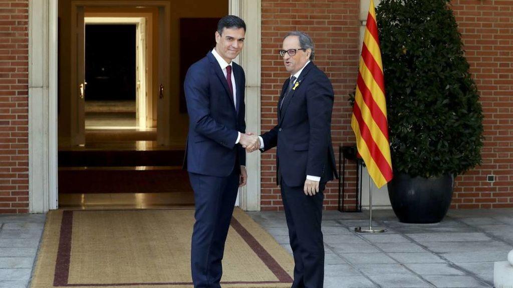 Pedro Sánchez con el expresident Torra.