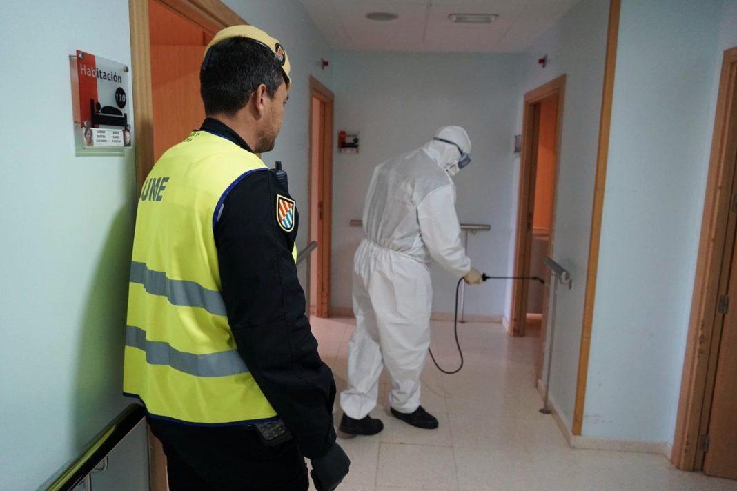 Intervención de la UME en las residencias durante la pandemia